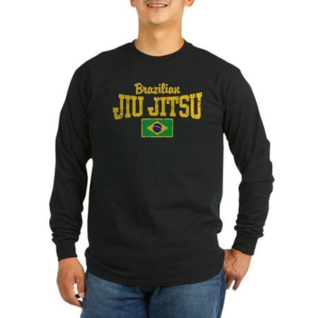 Brazilian Jiu Jitsu Long Sleeve Dark T-Shirt