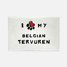 I *heart* My Belgian Tervuren Rectangle Magnet