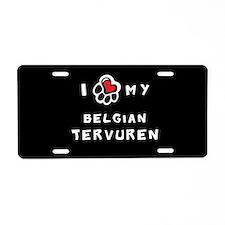 I *heart* My Belgian Tervuren Aluminum License Pla