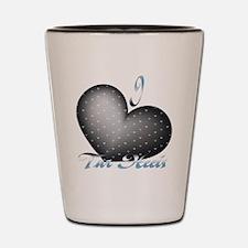 I Heart Tar Heels Shot Glass