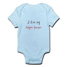 I Love My Belgian Tervuren Infant Bodysuit