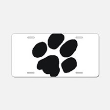 Pawprint Aluminum License Plate