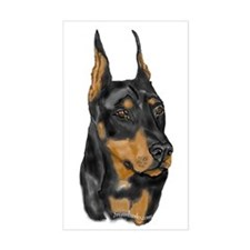 Doberman Portrait Rectangle Decal