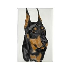 Doberman Portrait Rectangle Magnet