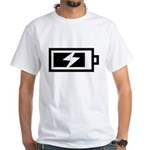 Recharge White T-Shirt