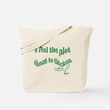 Rick Castle - Plot Thickens Quote Tote Bag