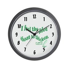 Rick Castle - Plot Thickens Quote Wall Clock