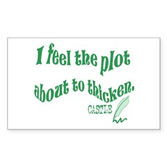 Rick Castle - Plot Thickens Quote Decal