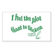 Rick Castle - Plot Thickens Quote Sticker (Rectang