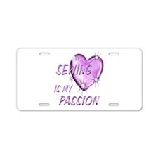 Sewing Passion Aluminum License Plate