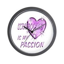 Scrapbooking Passion Wall Clock