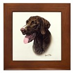 German Pointer Framed Tile