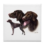 German Pointer Tile Coaster
