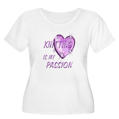 Knitting Passion Women's Plus Size Scoop Neck T-Sh