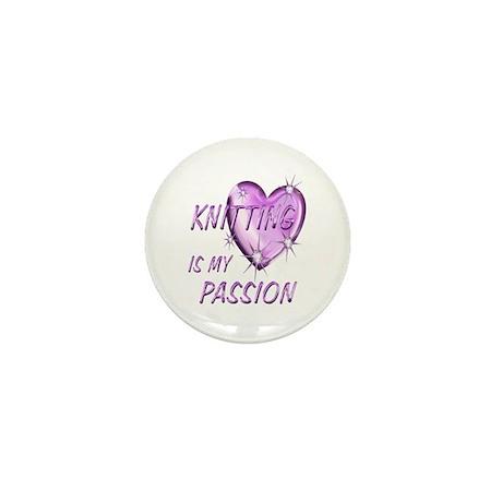 Knitting Passion Mini Button