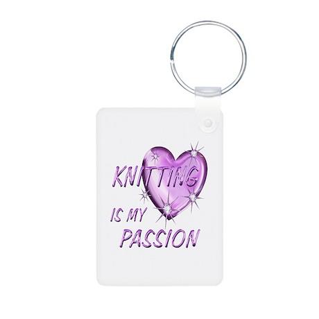 Knitting Passion Aluminum Photo Keychain