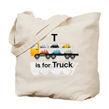 T is for Truck: Car Carrier Tote Bag