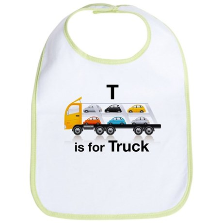 T is for Truck: Car Carrier Bib