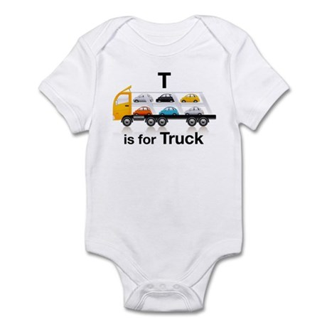 T is for Truck: Car Carrier Infant Bodysuit