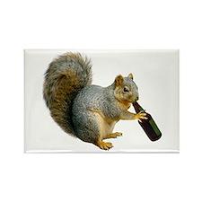 Squirrel Beer Rectangle Magnet
