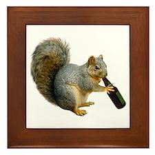 Squirrel Beer Framed Tile