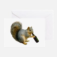 Squirrel Beer Greeting Card