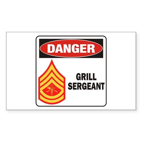 Grill Sgt. Sticker (Rectangle)