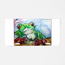 Tree Frog, Bright, Aluminum License Plate