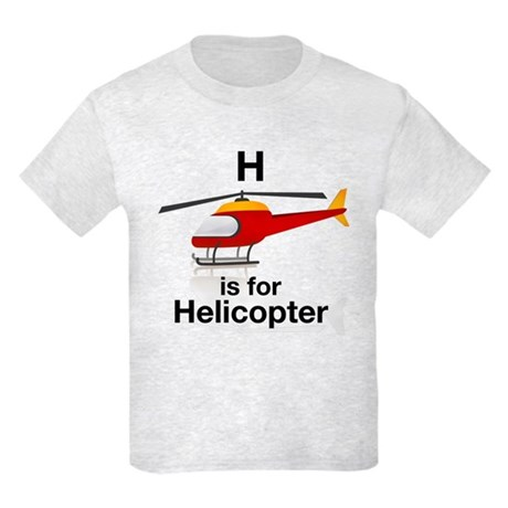 H is for Helicopter Kids Light T-Shirt