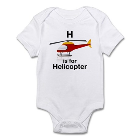 H is for Helicopter Infant Bodysuit
