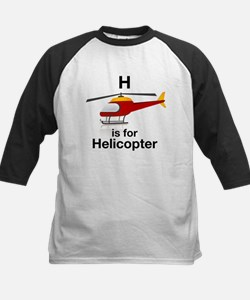 H is for Helicopter Kids Baseball Jersey
