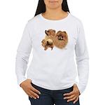 Pomeranian Women's Long Sleeve T-Shirt
