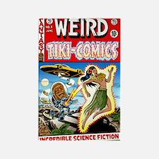 """""""Weird Tiki Comics # 1"""" Rectangle Magnet"""