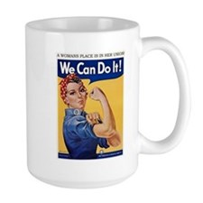 A Womans Place is in Her Union Mugs