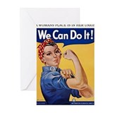 Rosie riveter Greeting Cards (20 Pack)
