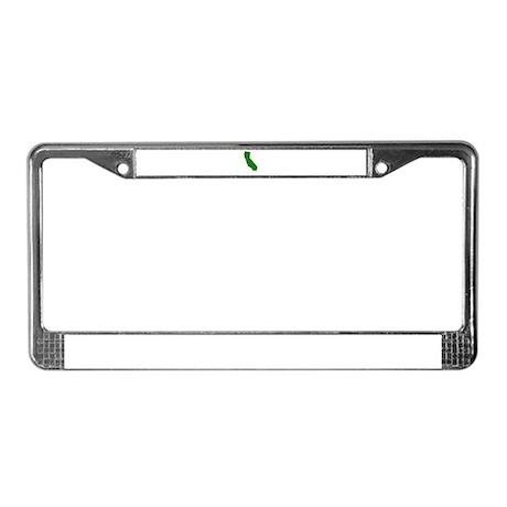 California - Green License Plate Frame