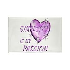 Gymnastics Passion Rectangle Magnet