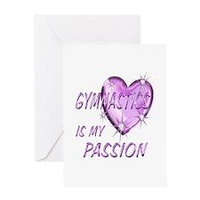 Gymnastics Passion Greeting Card