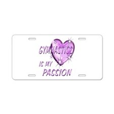 Gymnastics Passion Aluminum License Plate