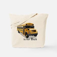 B is for Bus: School Bus Tote Bag