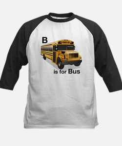 B is for Bus: School Bus Kids Baseball Jersey