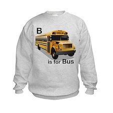 B is for Bus: School Bus Sweatshirt