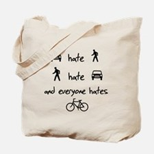 Cars Pedestrians Bikes Share Tote Bag