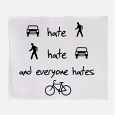 Cars Pedestrians Bikes Share Throw Blanket
