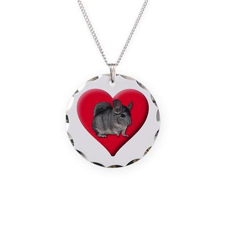 I Love Chinchillas Necklace Circle Charm