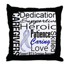 ALS Caregivers Collage Throw Pillow