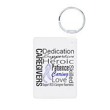 ALS Caregivers Collage Keychains