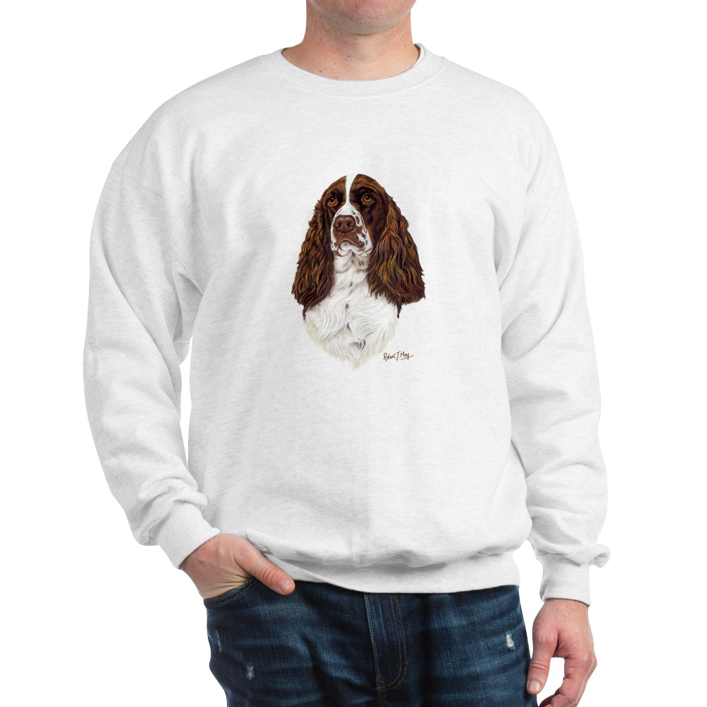 Classic Crew Neck Sweatshirt CafePress English Springer Spaniel