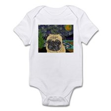 Starry night pug Infant Bodysuit