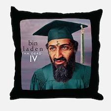 Cute Bin laden dead Throw Pillow